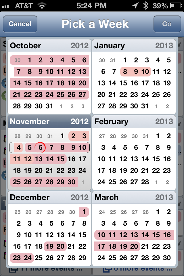 Easy Calendar is my favorite iOS Calendar App (includes 6 month ...