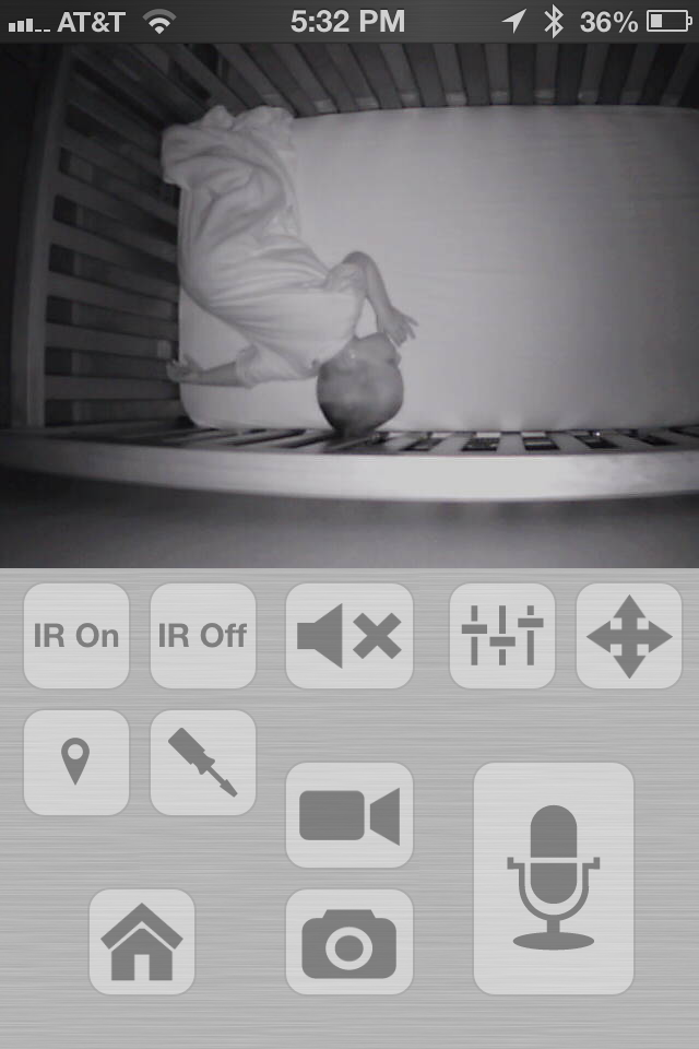 how to use iphone or ipad as audio video baby monitor with foscam camera. Black Bedroom Furniture Sets. Home Design Ideas