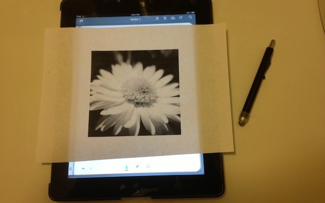 How to trace onto iPad (Mini), iPhone, iPod Touch