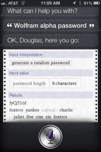 How to generate a highly encrypted password with Siri on iPhone, iPad (Mini), and iPod Touch