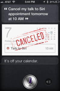 How to add, find, edit, or cancel calendar appointments using Siri