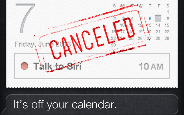 How to add, find, edit, or cancel calendar appointments with Siri