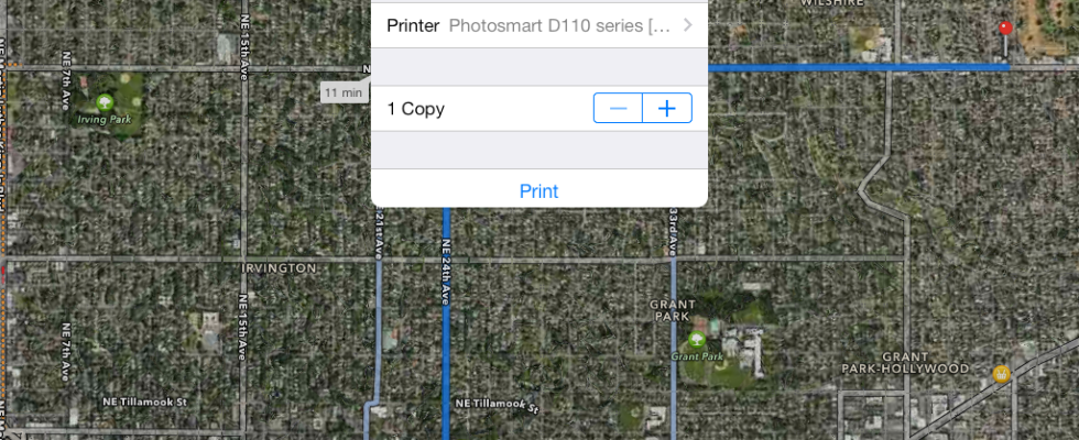 How to Print Driving Directions directly from your iPhone, iPad (Mini), and iPod Touch