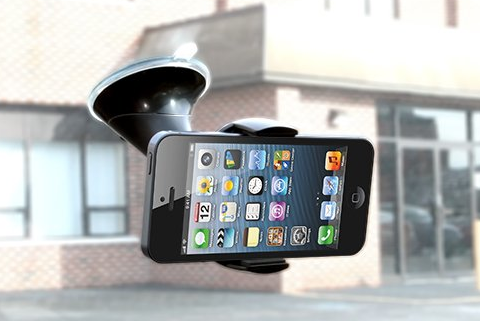 The perfect car dashboard-window mount for iPhone 4, 4S, 5, 5S