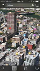 How to quickly switch to and use 3D Flyover Mode in Apple Maps App