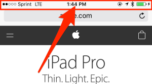 Quick Tip: Instantly scroll to top of page by tapping on the menu bar on iPhone, iPad, and iPod Touch