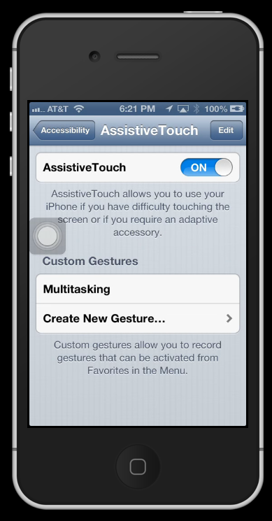 how to turn off iphone with assistive touch how to bypass a broken home button on iphone mini 3102